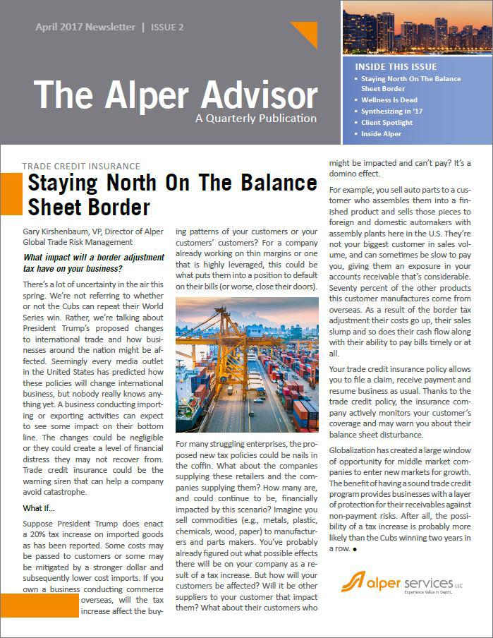 The Alper Advisor - April 2017