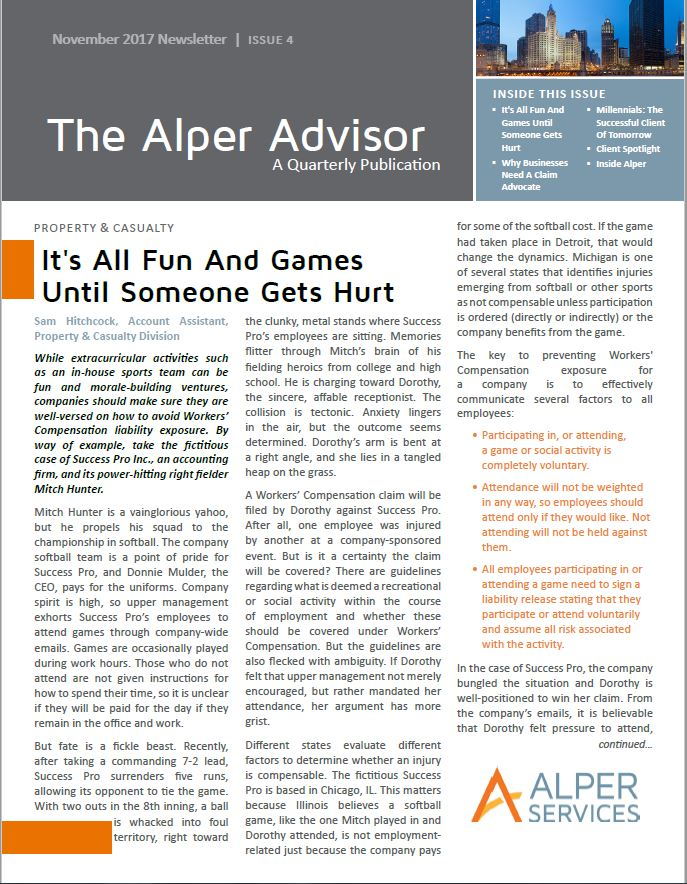 The Alper Advisor - Fall 2017