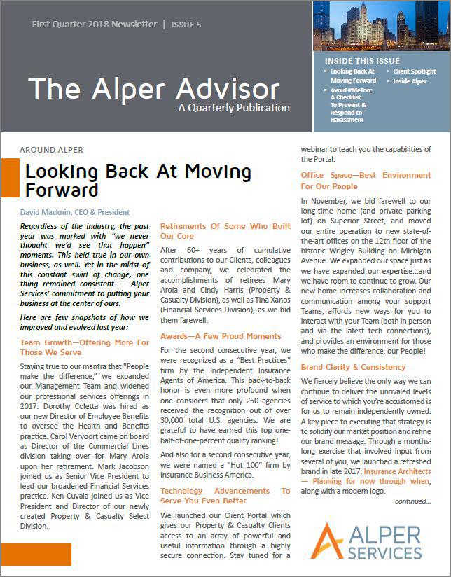 The Alper Advisor - Q1 2018